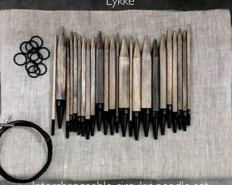 Lykke driftwood interchangeable circular needle set