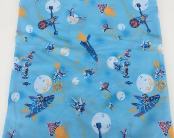 Vintage Outer Space Themed Fabric Piece
