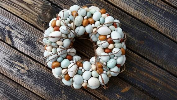 Easter Wreath, Rustic Egg Wreath, Egg Wreath, Easter Egg Wreath