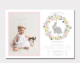 Some Bunny Birthday Invitation | Some Bunny is One | Bunny Birthday Invitation
