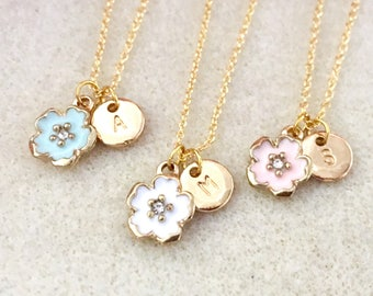 Personalized flower girl necklace junior bridesmaid necklace flower girl gift junior bridesmaid gift jr bridesmaid gift wedding jewelry