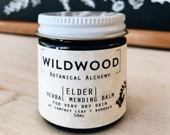 Wildwood ELDER Mending Balm, Eczema Balm, Dry Skin Balm, Ointment, Rescue Balm w/ Chickweed and Nettle