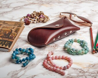 eyeglasses case eyeglasses glasses case eyeglass case leather case green case gift for her glasses protector sunglasses holder