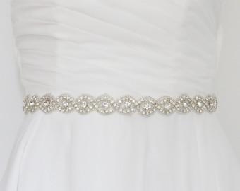 bridal sash belt, wedding sash belt, bridal belt, wedding belt, bridal sash, thin wedding belt, skinny sash belt, jeweled belt,