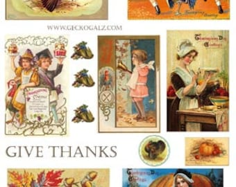 Give Thanks Digital Collage Sheet