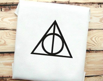 Harry Potter Style Deathly Hallows Sign Fill Stitch Embroidery Design All Files 4x4