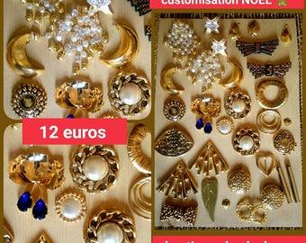 30 Golden customisation Christmas cabochons