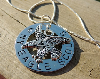 Necklace for eagle scout mom, my heart belongs to an eagle scout charm,  Gift for Eagle Scout, Scout Leader gift, Eagle  Scout reward gifts