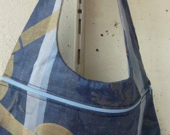 handbag cotton floral blue
