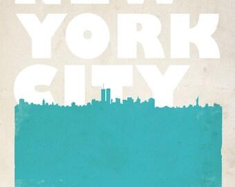 New York City Bold Skyline Print