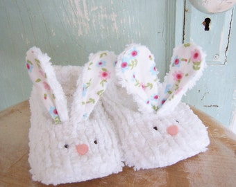 Bunny Slippers Sewing Pattern - PDF -  size 12 months to 4T