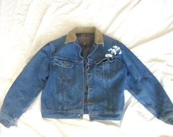 Vintage Flannel  Lined Denim Jacket