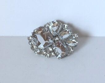 Rhinestone Gift Trim / Clip-on Embellishment