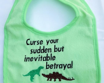 Embroidered Firefly Wash Bib