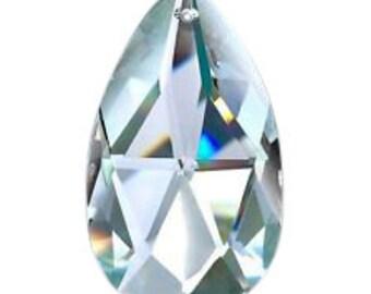 5 Clear Teardrop Asfour Lead Crystal Chandelier Prisms Suncatcher 38mm