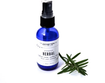 2oz Herbal Aftershave Splash with aloe and calendula