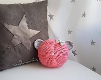 Crochet baby pillow