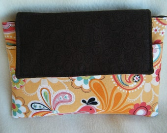 Kindle Sleeve in Orange Paisley - HANDMADE BY ME