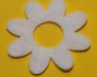 Mini Flower (with center hole) Felt Cut Out for wax dipping or other projects