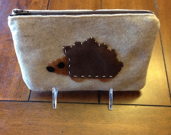 Hedgehog Zip Pouch