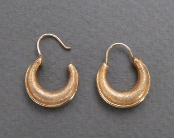 10K gold small hoop earrings