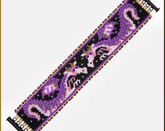 Dragon Flight Peyote Bracelet Pattern by Kristy Zgoda