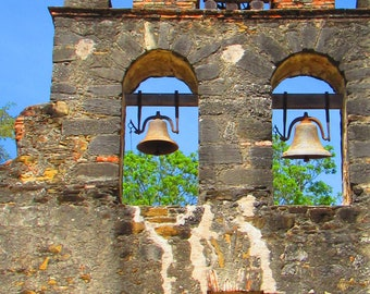 Fathers Day Gift, Spanish Colonial Architecture Fine Art Photography, Mission Espada Bell Photo Texas History, Premium Quality Matte Print