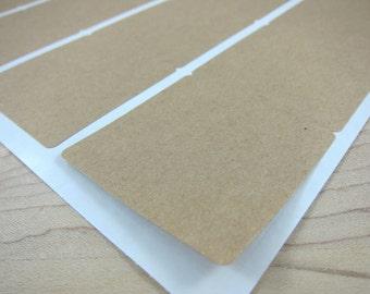 "2 inch Square Brown Kraft Labels - 2""x2"" Blank Kraft Stickers - DIY Labels"