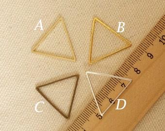 20pcs 24mm  triangle Charm, Brass, Golden, Antique Bronze, Silver  geometry triangle Charm Pendant  SW01