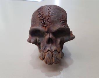 Skull Gear Shift Knob Rusty Hot Rod Kustom Kulture bottle opener utensil handle