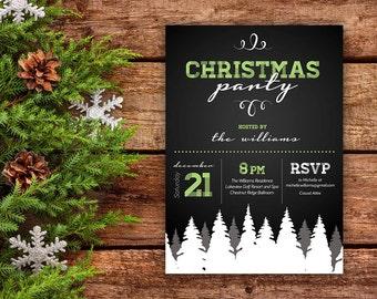 Christmas Party Invitation (Digital file)