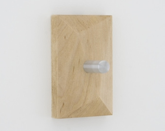 Modern Coat Hooks | PEDICEL Wall Hooks | Hand Planed Solid Maple & Aluminum
