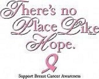 Beautiful New Handcrafted Pink Ribbon Hope Women's Sweatshirt Sizes Small thru 3XL Free Shipping