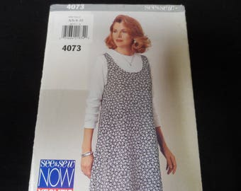 See & Sew Butterick 4073 Misses Jumper and Top Pattern Sizes 6-8-10 Uncut