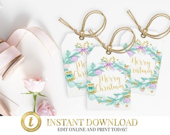 Christmas Gift Tag, Christmas Tags, INSTANT DOWNLOAD, Printable, Christmas Tag, Gift Tag Template, Printable Gift Tags, Digital Download
