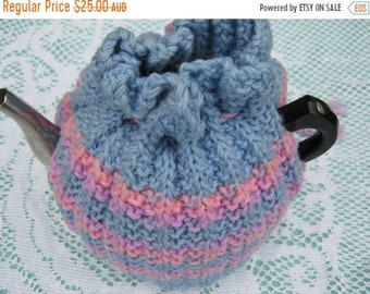 ON SALE Vintage Tea Cozy - Stripes Grey, Pink, Mauve  Tea Cosy/Cozy Vintage Style for your teapot.