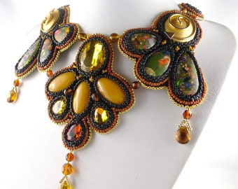 Necklace, Bead Embroidery, BiB