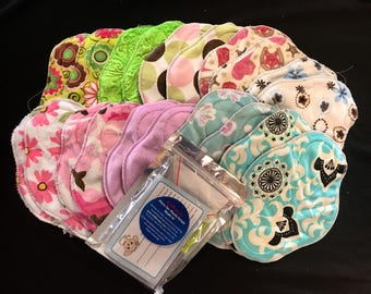 20-pack cloth pad making kit, unfinished, regular length heavy flow, handheld snap press and snaps included *Set A1*