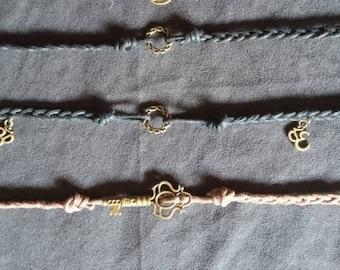 Fabric Bracelets Braided