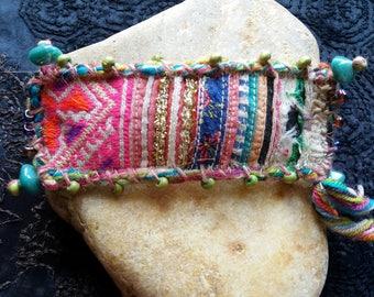 Bobby ethnic multicolor fabric Hmong size medium.