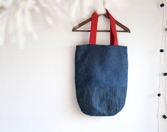 Large tote bag, Tote bag canvas, Colorblock Tote Bag, Urban Tote Bag, Shoulder Tote, Shoppers bag, Tote bag with pockets
