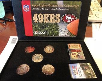 Zippo San Francisco 49ers NFL Super Bowl Limited Edition Set  245/3000 Made