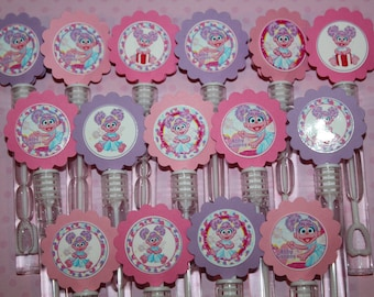 Abby Mini Bubble Wands Birthday Party favors- set of 15