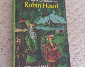 The Merry Adventures of Robin Hood by Howard Pyle, Vintage Hardback Children's Book