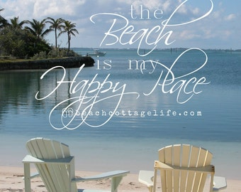 Serenity in Beach Chairs - Painted Pastel Adironacks for Two, Abaco, Bahama Out Islands Beach is my Happy Place Seaside Hope Town Vacation