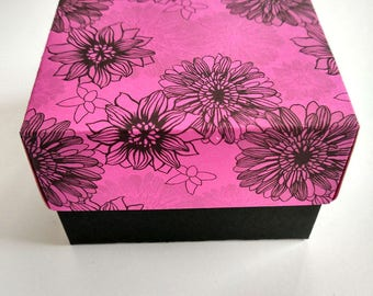 Set of 10 Colorful boxes with floral print, boxes with a lid, boxes with print, Boxes with flowers, packing box, gift box, gift box with lid