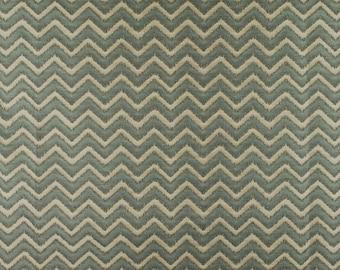 Basir Sky Chevron Ikat Fabric
