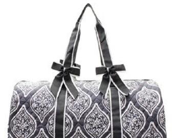 Quilted Garden Vine Shoulder Duffel Bag with free monogram