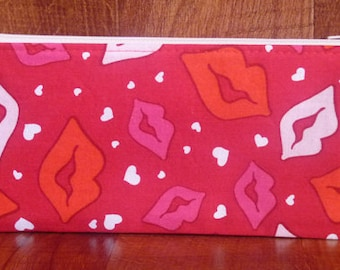 Valentine's Day - Lips Pen Case/Gadget Pouch/Coupon Holder