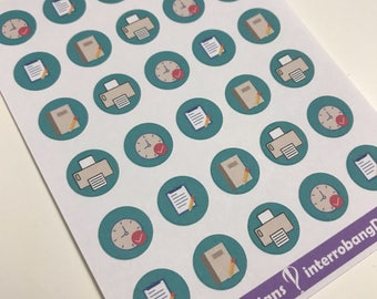 A129 - School/Work Icons - Planner Stickers